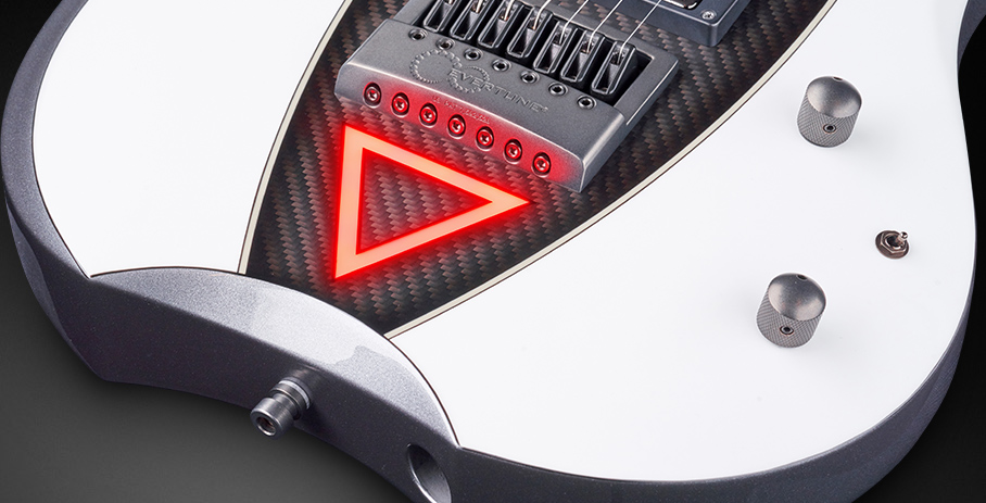 Devin Townsend 7 #18-3908 - Red LED Triangle Body Inlay