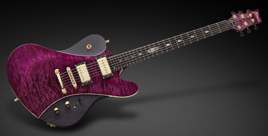 Idolmaker Stevie Salas Signature - French Violet Transparent High Polish and matched headstock lacquering