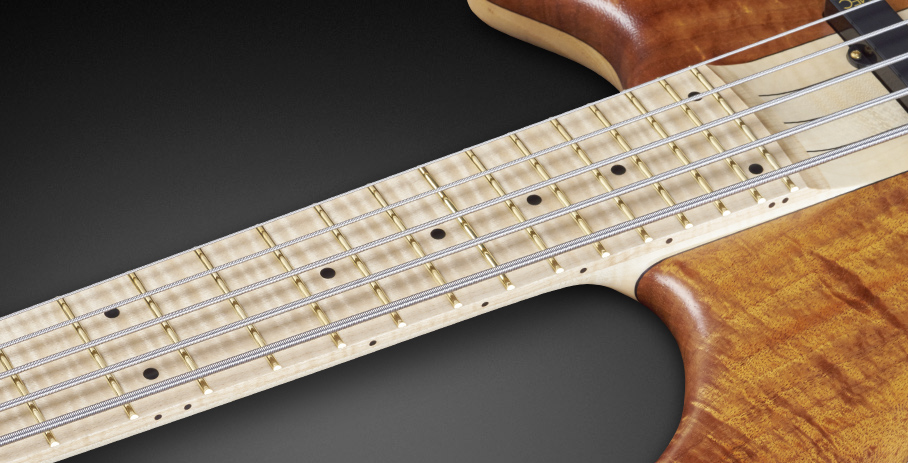 Katana NT #17-3421 - Flamed Maple Fingerboard with Black Dot Inlays