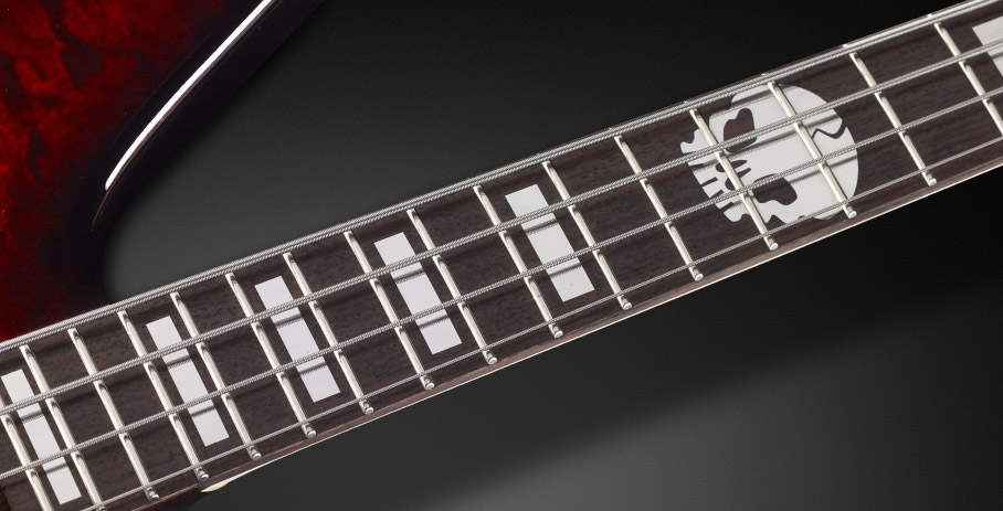 Reverso Rex Brown Signature - Block inlays Silver/Special Skull inlay at 12th and Rosewood fingerboard