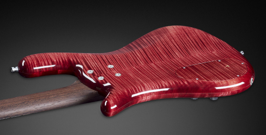 Streamer LX #16-3155 - Wenge neck and AAA Coloured Flamed Maple body back