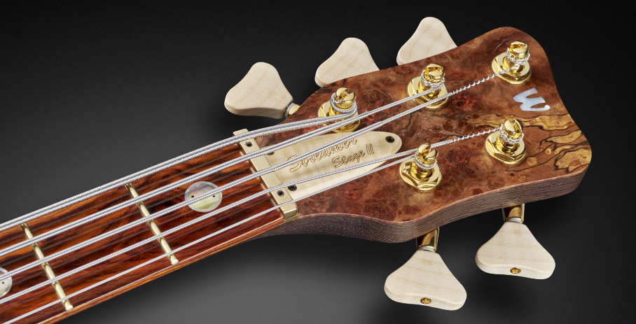 Streamer Stage II #17-3615 - Matched Headstock with Flamed Maple Machinehead Knobs