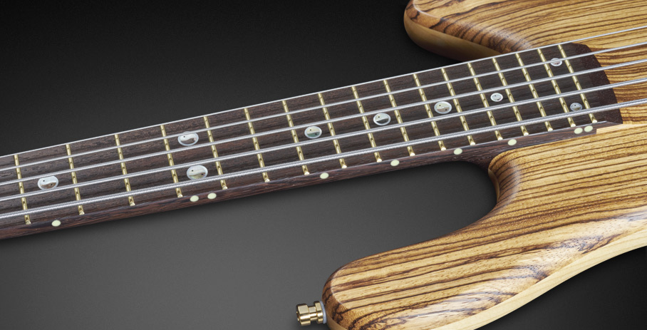 Streamer Stage II #16-3154 - 5mm Side Dots with Wenge Fingerboard