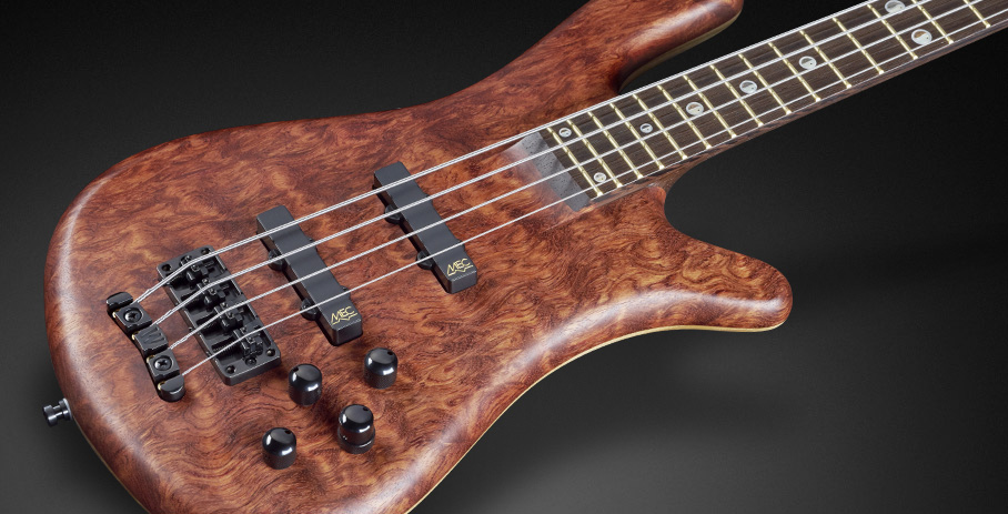 "Streamer Stage II #16-3280 - 1"" Bubinga Pommele Top with Dark Wenge Fingerboard"